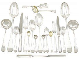 Sterling Silver Canteen of Cutlery for Eight Persons - Antique Victorian (1896)