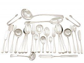 Sterling Silver Canteen of Cutlery - Antique George V (1930)
