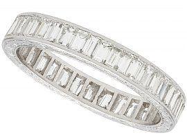 3.80ct Diamond and Platinum Full Eternity Ring - Antique Circa 1930