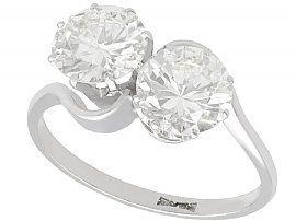 2.85ct Diamond and Platinum Twist Ring - Vintage Circa 1940