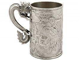 Chinese Export Silver Mug - Antique Circa 1900