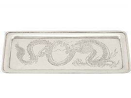 Chinese Export Silver Tray - Antique Circa 1890