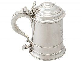 Newcastle Sterling Silver Tankard by Thomas Makepeace I - Antique Early George II (1732)
