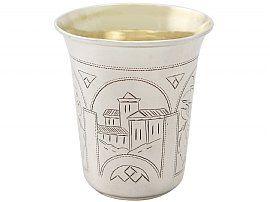 Russian Silver Kiddush Cup / Beaker - Antique 1889
