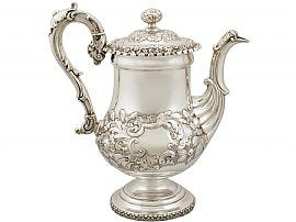Sterling Silver Coffee Pot - Antique George IV (1825)