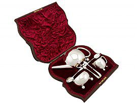 Sterling Silver Three Piece Bachelor Tea Service - Antique Victorian