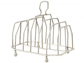 Sterling Silver Toast / Letter Rack - Antique George III