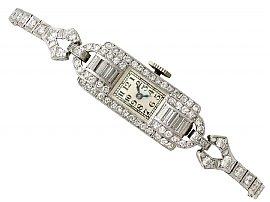 2.24 ct Diamond Ladies Cocktail Watch in Platinum - Antique Circa 1930