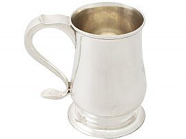 Newcastle Sterling Silver Mug by John Langlands I & John Robertson I - Antique Georgian