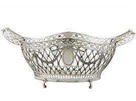 Judaica Silver Fruit Basket / Centrepiece - Edwardian Style - Vintage Circa 1990