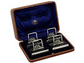 Sterling Silver Menu Holders - Antique George V (1912)